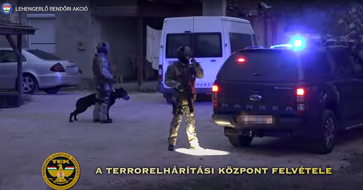 Lehengerlő országos akcióban vettek részt a váci rendőrök (videó)