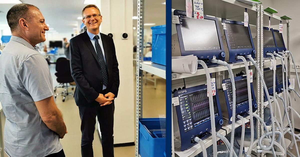 A Celitron váci gyárában a jövő lélegeztetőgépeit gyártják