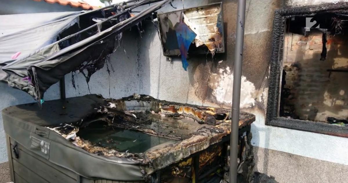 Zárlatos jakuzzi okozott tüzet egy garázsban Vácon (videó)