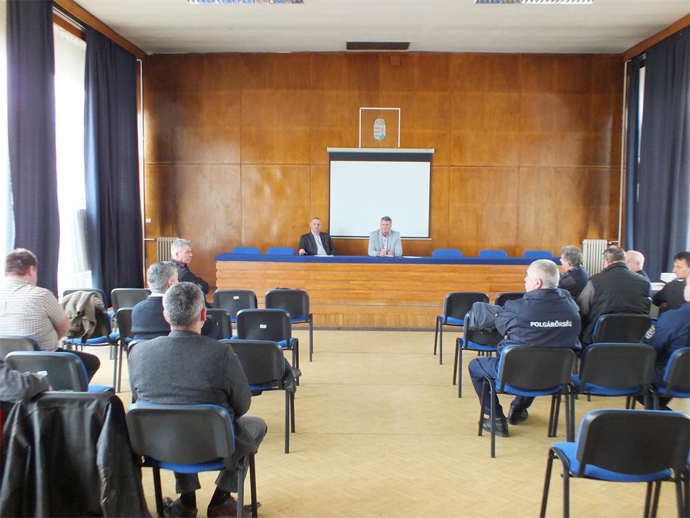 Polgárőr munkaértekezlet volt a Váci Rendőrkapitányságon