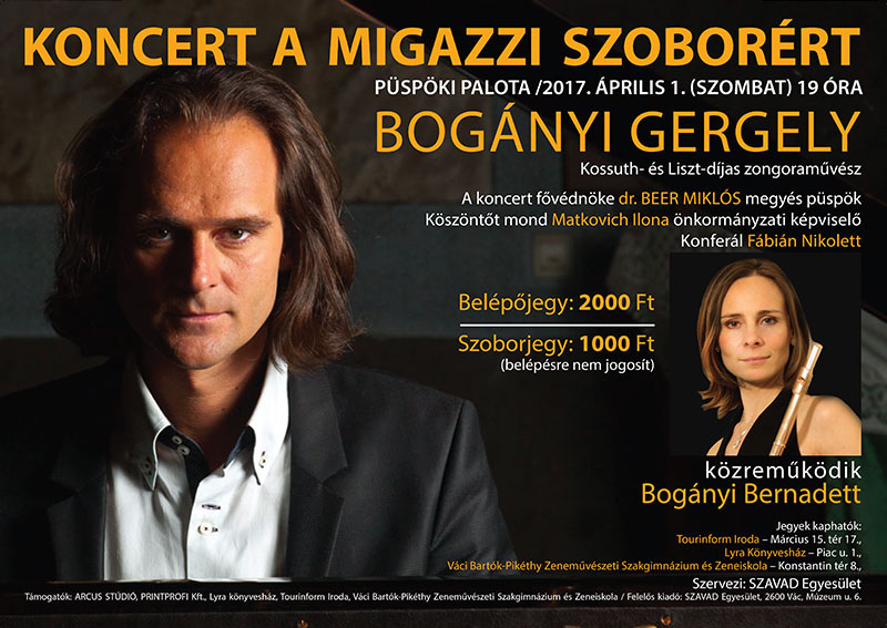 Jótékonysági koncert a Migazzi szoborért