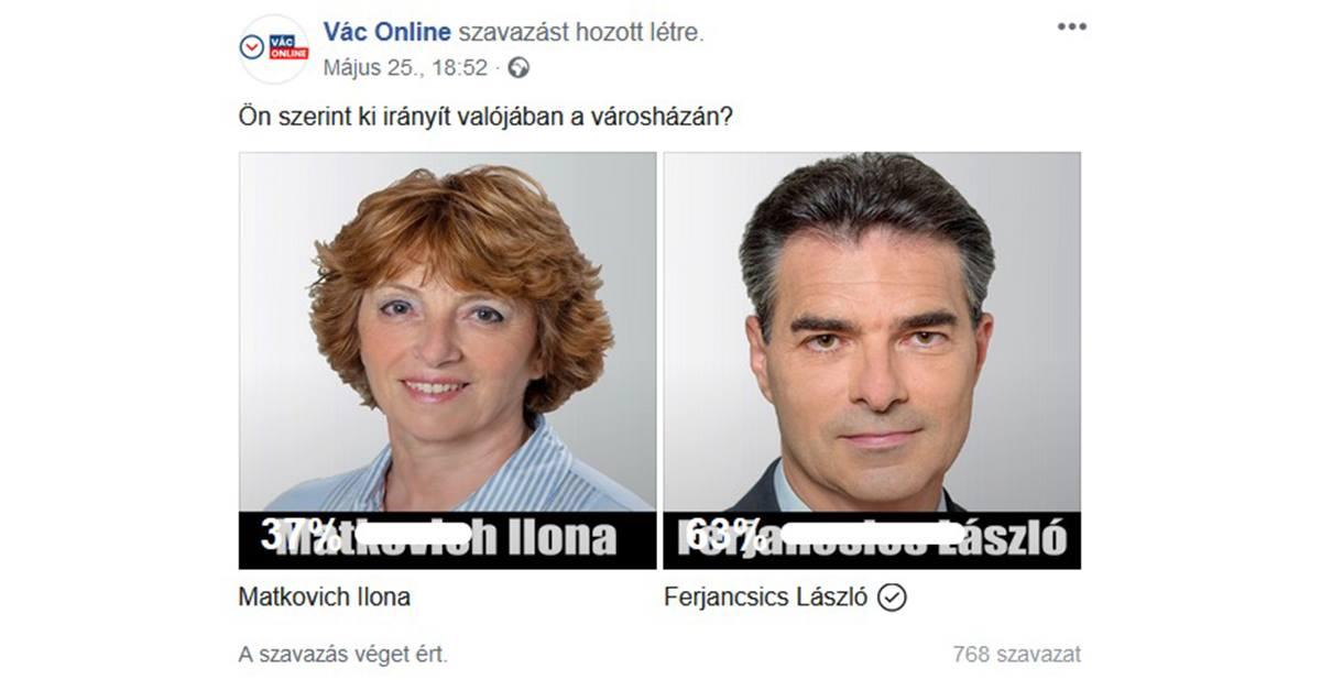 Matkovich súlytalan, Ferjancsicsnak közel kétharmada van – szavaztak a váciak